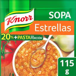 Pasta Para Sopa Knorr de Estrellas 115 g
