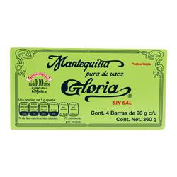 Mantequilla Gloria Sin Sal 90 g x 4