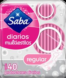 Pantiprotectores Saba Diarios Multiestilos Largos 40 U