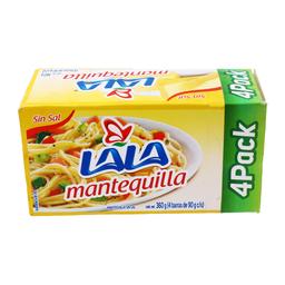 Mantequilla Lala Sin Sal 90 g X 4