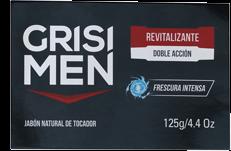Jabón de Tocador Grisi Men Revitalizante Doble Acción