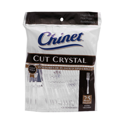 Tenedor Desechable Chinet Cut Crystal 25 U