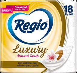 Papel Higiénico Regio Luxury Almond Touch 18 U