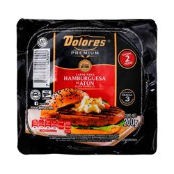 Hamburguesa de Atún Dolores Premium 2 pack 200 gr