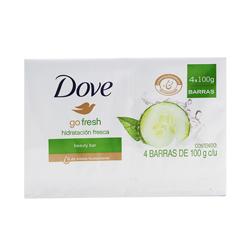 Jabón de Tocador Dove Go Beauty Bar 100 g x 4