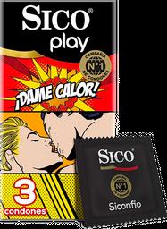 Condones Sico Play Dame Calor 3U