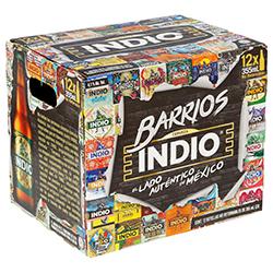 Cerveza Indio Oscura Botella 355 mL x 12