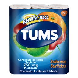 Pastillas Masticables  Surtido Extra Antiacido 24 unidades