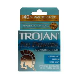 Trojan Church And Dwight Preservativos Piel Desnuda 3 Piezas