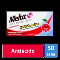 Melox Plus Cereza 50 Tabletas  (200 mg/ 200 mg/ 25 mg)