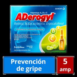 Aderogyl 15 5 Ampolletas de 3 mL