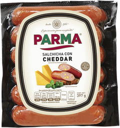 Salchicha queso cheddar Parma 397 g