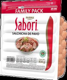 Salchicha de pavo family pack Sabori 830 g