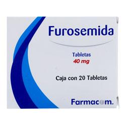 Farmacom Furosemida 20 Tabletas (40 mg)