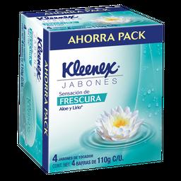 Jabón de Tocador Kleenex Energía Hidratante 110 g X 4