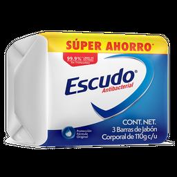 Jabón de Tocador Escudo Antibacterial 110 g x 3 U