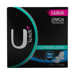 Kotex Toalla Femenina  Unika Ultradelgada
