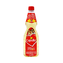 Aceite Capullo Vegetal  de Canola 840 mL