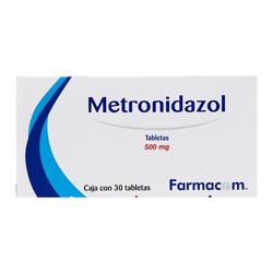 Metronidazol 500 Mg 30 Tabs