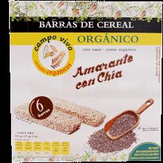 Barra de Cereal Campo Vivo Amaranto y Chia 17 g