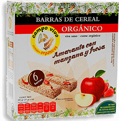 Barras de Amaranto Campo Vivo Manzana y Fresa 102 g