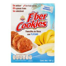 Panecillos Fiber Cookies de Fibra Con Plátano 190 g
