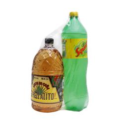 Destilado de Tonayan El Mezcalito Botella 1.75 L + Squirt 1 L