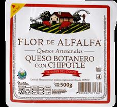 Queso Botanero Flor De Alfalfa con Chipotle Artesanal 500 g