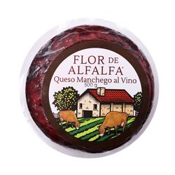 Queso Manchego Flor de Alfalfa Al Vino 500 g