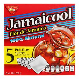 Saborizante Para Agua Jamaicool en Sobre 50 g x 5