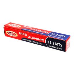 Papel Aluminio Avilés 15.2 m X 30 cm 1 U