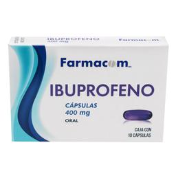 Farmacom Ibuprofeno 10 Cápsulas (400 mg)