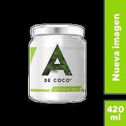 Aceite de Coco A de Coco Extra Virgen 420 mL