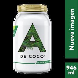Aceite de Coco A de Coco Extra Virgen Orgánico 946 mL