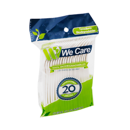 Tenedor Desechable We Care Biodegradable 2 U