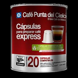 Cápsulas de café Punta Del Cielo Express Grano Regular 20 U