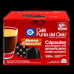 Cápsulas de Café Punta Del Cielo Americano Estilo Europeo 16 U
