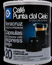 Cápsulas de Café Punta Del Cielo Cosecha Veracruz 20 U
