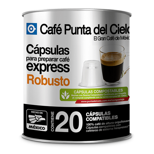 Cápsulas de Café Punta Del Cielo Express Robusto 20 U