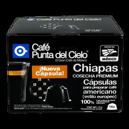 Cápsulas de Café Punta Del Cielo Chiapas Cosecha Premium 16 U