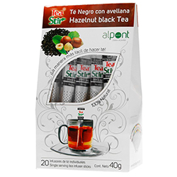 Té Negro Alpont Gourmet Con Avellana 20 U
