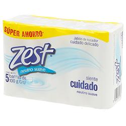Jabón Zest Neutro Cuidado Delicado  de Tocador 5 U