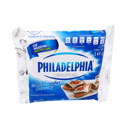 Queso Crema Philadelphia Original 8 Rebanadas Cremosas 144 g