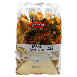 Pasta Spirali Fantasía 232 Tricolor 500 g