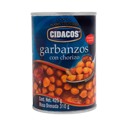 Garbanzo Cidacos Con Chorizo 425 g