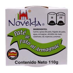 Paté de Pato Novelda al Armagnac 110 g