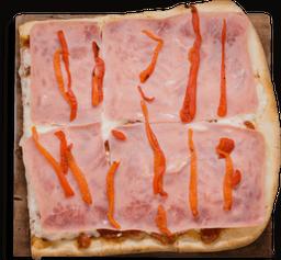 Pizza Jamón con Morrones 1/4