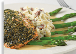 Herb Crusted Filet of Salmón