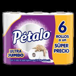 Papel Higienico Pétalo Ultra Jumbo 6 U