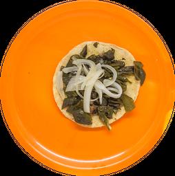 Taco de Rajas Poblanas